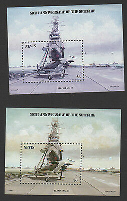 Nevis 1986 Spitfire SC# 464 Error! Missing Yellow Color! With Normal to compare!