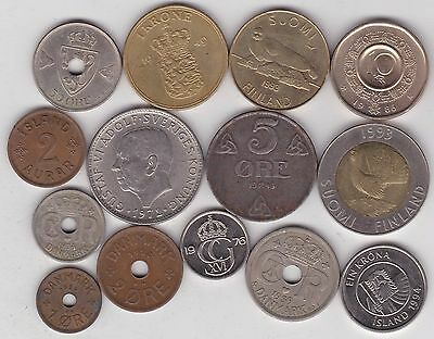 14 Coins From Scandinavia Dated 1928 To 1994 In Fine To Near Mint Condition