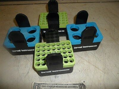 4 Sorvall Instruments Dupont Swing Bucket Inserts 2-00830 Blue & 2-00836 Green