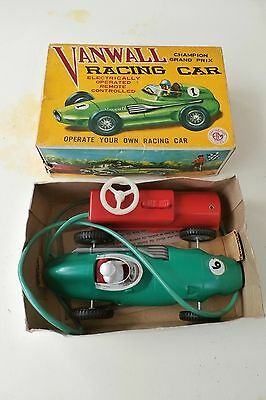 Vanwall vintage battery operated car model by Empire Made Toys