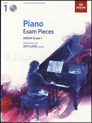 ABRSM Piano Exam Pieces 2017 2018 Syllabus Grade 1 Sheet Music Book and CD