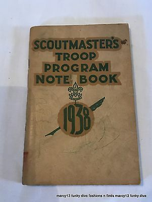 Vintage 1938 Boy Scouts Scoutmaster's Troop Program Note Book