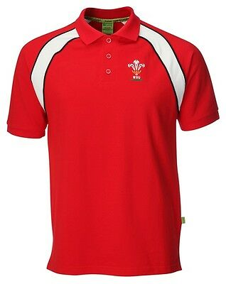 Rugby Camiseta Polo Shirt Oficial - Gales Wales - S M L XXL