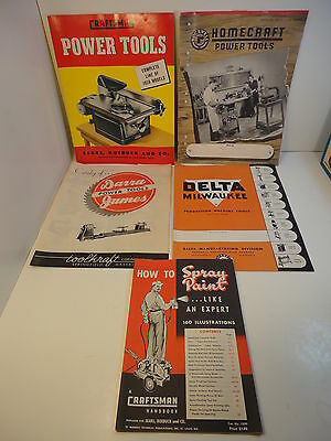 1950 sears craftsman,48 Delta Milwaukee,49 Rockwell Homecraft catalog POWER TOOL