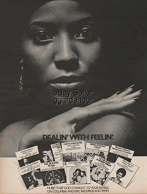 1974 Earth Wind Fire Sly Family Stone Buddy Miles Columbia Epic Record Ad