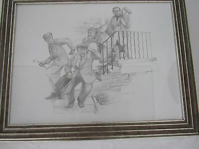 Collectable Best of British Sitcom Pencil Drawing Prints Jonathan Roberts KEY S1