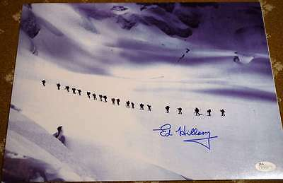 Sir Edmund Hillary Jsa Coa Hand Signed 11X14 Photo Authenticated Autograph