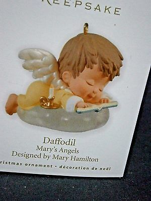 """Hallmark Mary's Angels """"daffodil"""" Ornament 23Rd In Series"""
