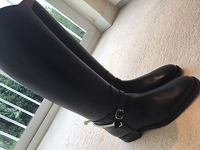 Designer Cavallo Black Leather Horse Riding Boots Dressage Hunting Knee High A**