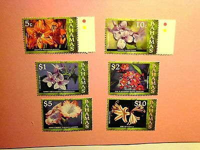 BAHAMAS: 2007/8 Flowers Paintings. 6vals to $10 MNH btwn Sg1425/38
