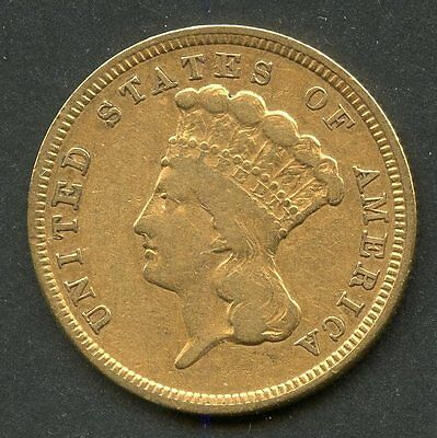 United States 1854 $3 Gold Piece You Do The Grading Have Fun Bidding