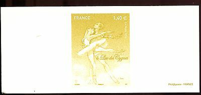 dance russian ballet Swan Lake by Tchaikovsky stamp proof engraving 2016/423