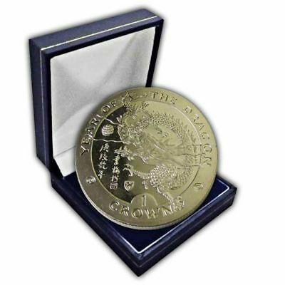 Isle of Man 2000 Chinese New Year - Year of the Dragon Unc. CuNi Coin in a box