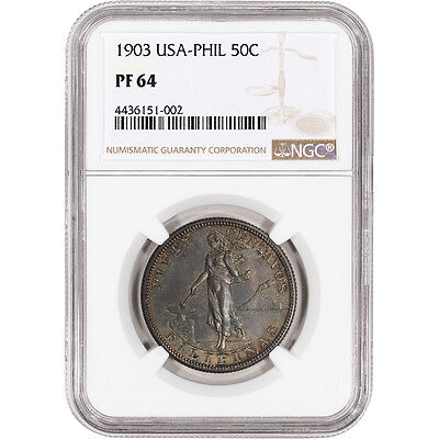 1903 USA Philippine Silver 50 Centavos Proof - NGC PF64