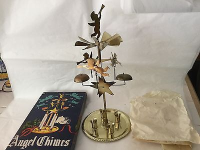 Vintage Christmas Angel Chimes brass Made in Japan original box & wrappings