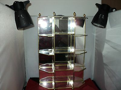 Franklin Mint The Treasury of Eggs -12 egg display cabinet - mirrored glass