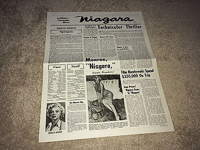 NIAGARA Movie Pressbook 1952 Marilyn Monroe Film Noir Crime Henry Hathaway R60s
