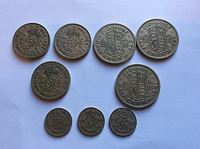 Collection of GB George VI Half Crowns Two Shillings & Sixpence