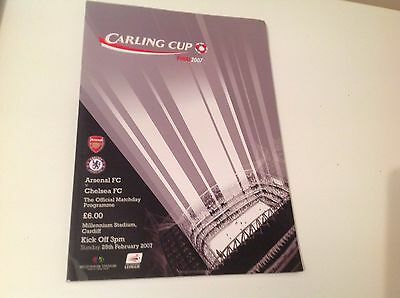 Rare Carling Cup Final 25Th Feb 2007 Arsenal V Chelsea