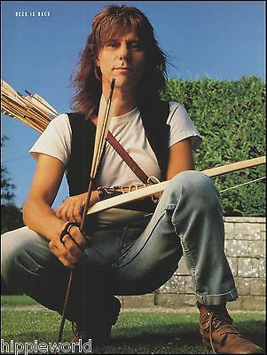 Jeff Beck with bow and arrow 8 x 11 color pinup photo ready to frame