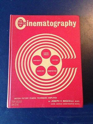 """""""The Five C's of Cinematography"""" Mascelli First Edition 1965 movies film"""