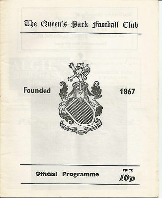 80/81 League September Queen's Park v Queen of the South