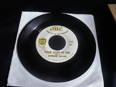 JOHNNIE ALLEN 'Please Accept My Love' bw 'This Life I Live' Country 45 JIN 1024