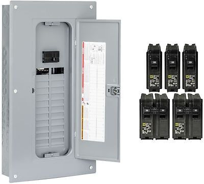 Square D 24-Space 100-Amp Main Breaker Electrical Service Load Center Box NEW