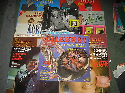 Giant Lot Of 12 Kenny Ball/barber/bilk/lightfoot Lp's-All Listed And Pictured