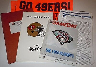San Francisco 49ers Media Guide 1993 1994 Playoffs NFC Championship Sign Montana
