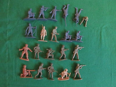 21 X Wwii Airfix 1/32 Scale Plastic Soldiers - Inc German Mountain Troops