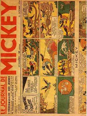 LE JOURNAL DE MICKEY n° 1 DU 21 octobre 1934-fac-similé octobre 1990