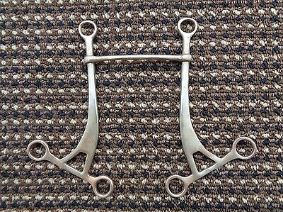 Antique / Vintage RARE Nickle Horse Bit ~ Made In England ~ Driving / Riding ??