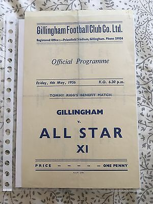 Gillingham v All Star XI - 1955/56 - Friendly