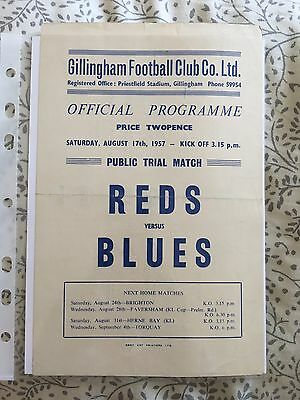 Gillingham FC - Reds v Blues - 1957/58 - Match 2. 17th August