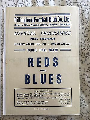Gillingham FC - Reds v Blues - 1957/58 - Match 1. 10th August