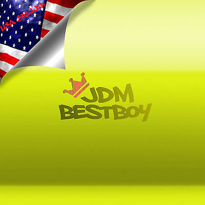 "39""x420"" Fluorescent Yellow Vinyl Self Adhesive Decal Plotter Sign Sticker Film"