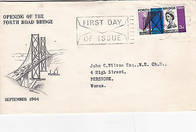 GB 1964 Opening Of The Forth Road Bridge FDC (2)