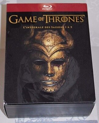 COFFRET BLU-RAY GAME OF THRONES INTEGRALE SAISON 1 à 5 COMME NEUF