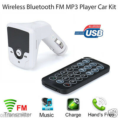 Bluetooth FM Transmitter MP3 Player Handsfree Car Kit USB Charger TF SD