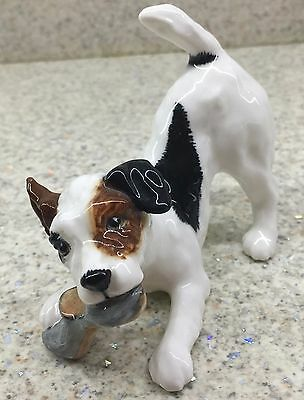 ROYAL DOULTON DOG TERRIER CHARACTER DOG WITH SLIPPER No.HN 2654 GLOSS PERFECT