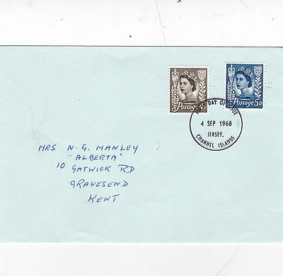Jersey 1968 Regional Definitives FDC VGC