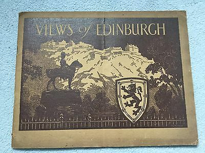 Ritchies Post Cards Views Of Edinburgh Booklet
