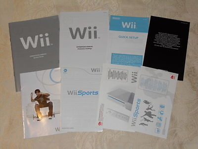 Nintendo Wii console Wii Sports pack paperwork manuals set L2