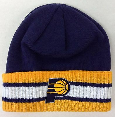 info for a4d3c e338a NBA Indiana Pacers Adidas Cuffed Winter Knit Hat Cap Beanie Style  KU86Z NEW !