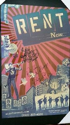 Rare RENT Signed Poster