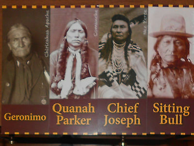 4 American Indian Photo/id Cards:sitting Bull,geronimo More See Below
