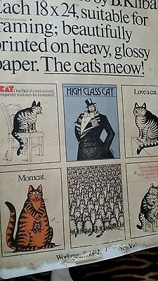 Vintage 1977 cats posters by B. Kliban all original