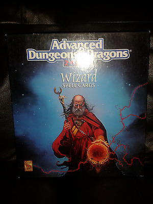 ADVANCED DUNGEONS & DRAGONS (AD&D) Wizard Spell Cards Boxed Set 9356 2nd ed wP&P