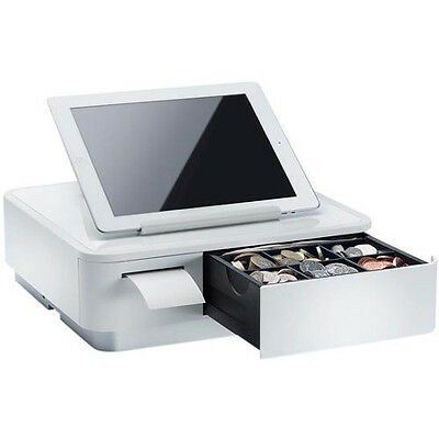 Star Micronics MPOP White Integrated + Cash Drawer Universal Tablet Stand
